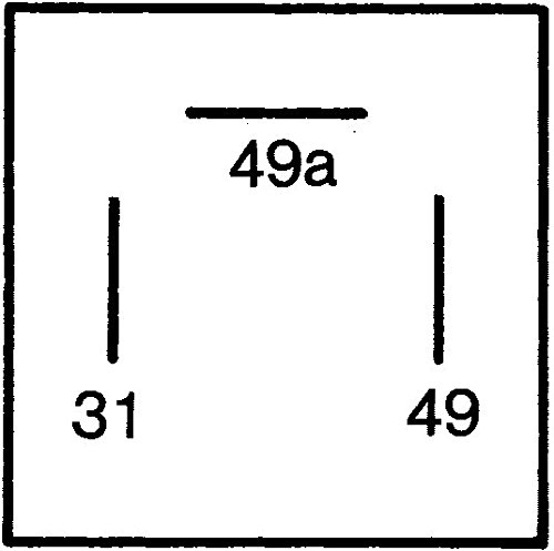 /électronique 12V HELLA 4DB 003 750-711 Centrale clignotante