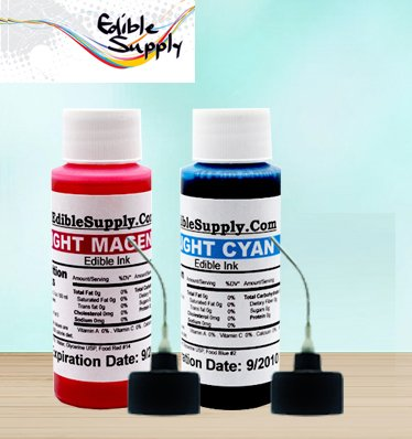 Edible Supply 9 oz Light Cyan/Light Magenta Edible Ink Refill Bottle Combo for All Epson Print by Edible Supply (Image #3)
