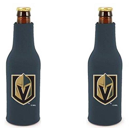 fan products of Las Vegas Golden Knights 2-PACK 12oz Bottle Zipper Koozie Neoprene Holder Cooler Coolie Hockey