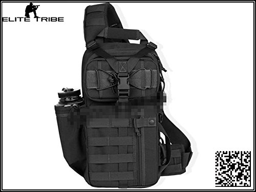 Military Airsoft Paintball Backpack Hiking Camping Daypacks Tactical TFM 3 Sling Pack Single Shoulder Black