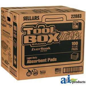AP22883 Universal Eversoak Light Duty Absorbent Pads (15'' X 19'') 100 Pads/Box by RAPartsinc