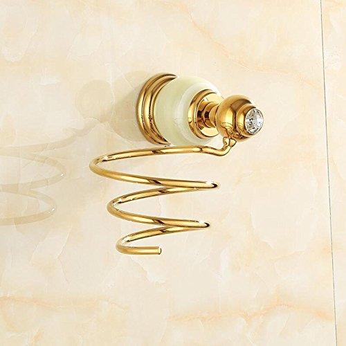 Znzbzt jewel of whole copper bath towel rack bathroom metal wall of marble gold towel rack racks, Green Jade Hair Dryer Rack