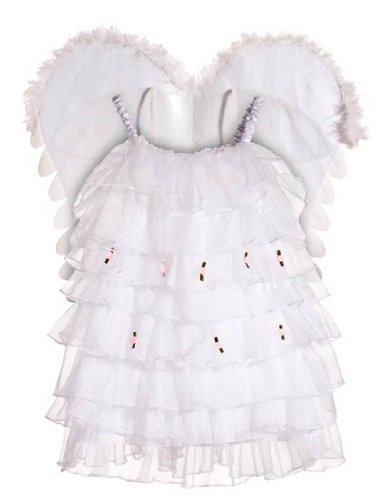 [This Guy Costumes Baby Girls' Rainbow Angel, White, 3T-4T] (Halloween Costumes For 2 Guys)