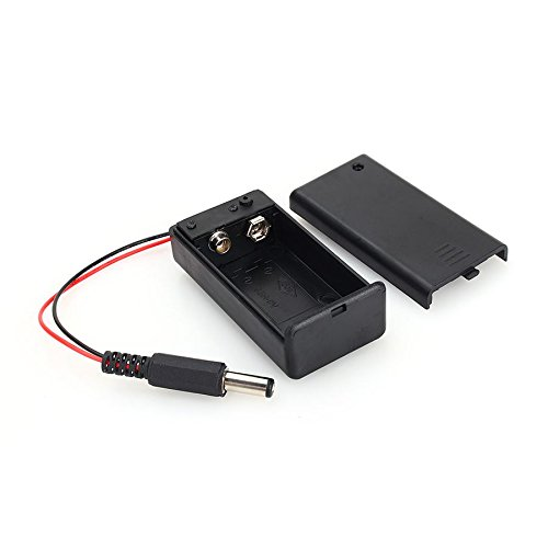 5Pcs 9V Battery Holder with ON/OFF Switch Solder DC 5.52.1mm Power Socket Plug