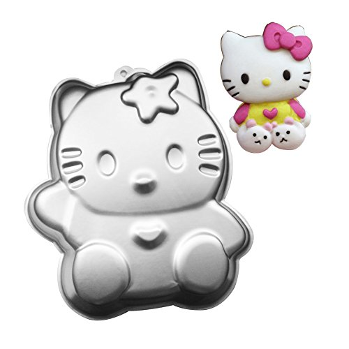 wotoy 12 Inch Aluminum Alloy 3D Cake Mold Baking Mould Tin Cake Pan - Cup Cakes, Chocolate -Great for Parties - Cupcake Lovers (Hello Kitty)]()