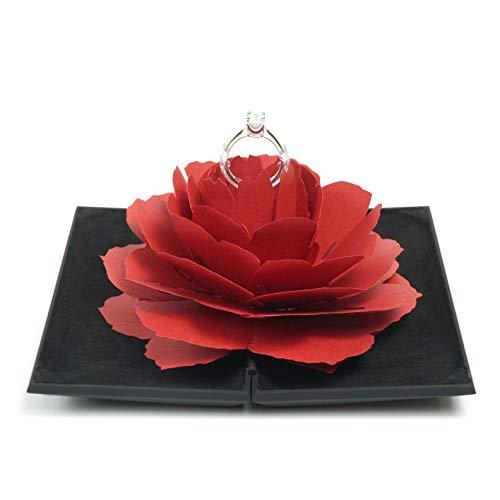 [해외]로 텍 Romantech 반지 케이스 플라스틱 케이스 검정 빨강 꽃 / Romantech Romantech Ring Case Resin Case Black Red Flowers