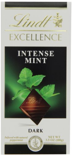 Lindt Excellence Bar, Intense Mint Dark Chocolate, 3.5 Ounce (Pack of 12) by Lindt