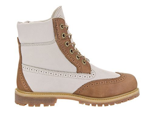 Tan Off 6in Timberland Boots White premium boot homme nPaFwq