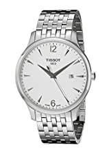 Tissot Men's T0636101103700 Tradition Round Silver-Tone Bracelet Watch