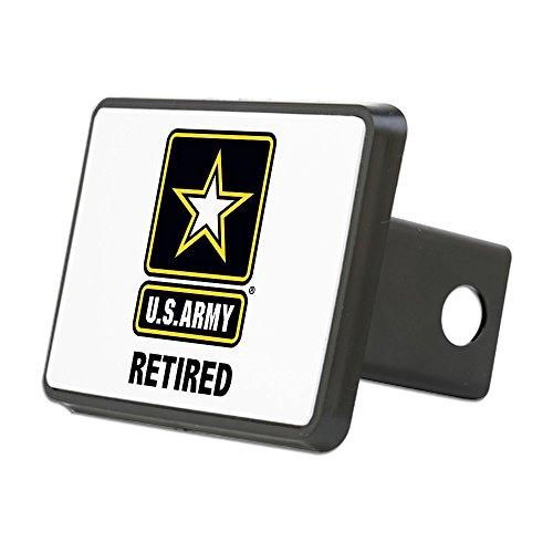 CafePress - U.S. Army Retired - Trailer Hitch Cover, Truck Receiver Hitch Plug ()