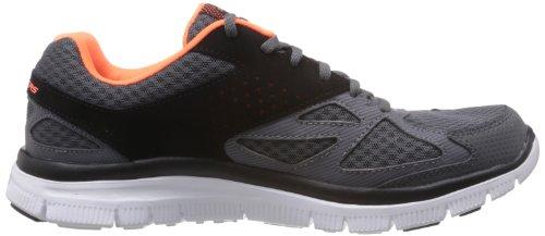 Skechers Sport Hombres Flex Advantage Master Plan Sneaker Charcoal / Black