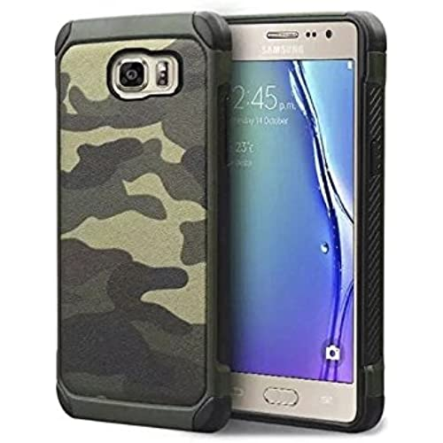 Galaxy S7 Edge Case,Dual Layer Shock Absorption Protective Back Case Cover for Samsung Galaxy S7 Edge - Camouflage Green Sales