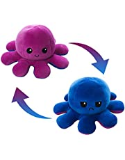 AioTio Double-sided Octopus Flip Plushie|Easy to show your mood to the parents/kids|As an interesting gift to kids