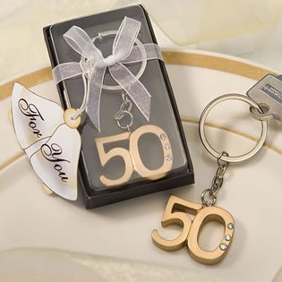 50th Anniversary Keychain Favors 72