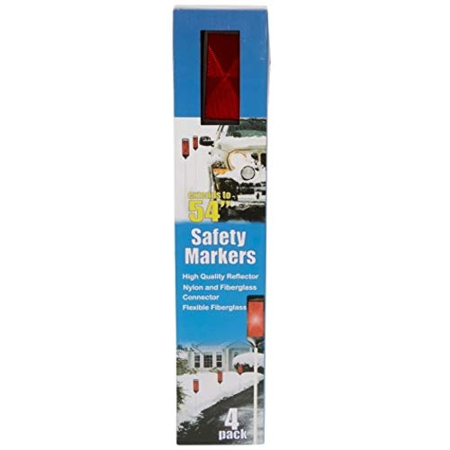 Calderon Textiles Driveway Reflector Safety Markers, Set of 4