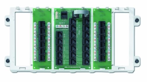 Leviton 47603-12P 12-Port Structured Media Panel, White