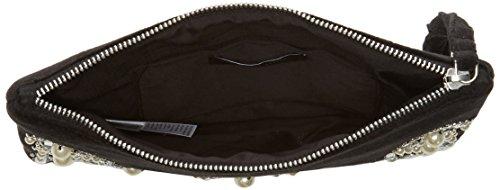 New Look Jacquard Embellished - Pochette da giorno Donna, Black, 3x15x20 cm (W x H L)