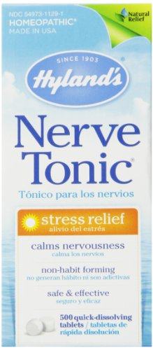 Hyland's Nerve Tonic Stress Relief Tablets, Natural Relief of Stress, 500 Count
