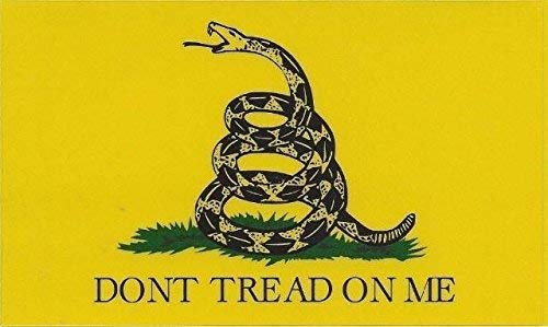 4-Pack / Gadsden Don't Tread On Me flag Printed size: 5x3