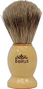 Bellus 100% Pure Badger Shaving Brush-Bamboo Handle- Engineered for the Best Shave of Your Life. For, Safety Razor, Double Edge Razor, Staight Razor or Shaving Razor, Its the Best Badger Brush