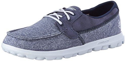 Women's Skechers Shoe The White Headsail Toe Heathered Go On Navy Moc Boat Tq7nzqd