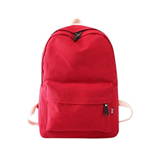 Canvas School Green Preppy Backpack Red Girls Shoulder Bag Women TUDUZ Bookbags Mint Travel Backpack Womens Ox1wq8IZ