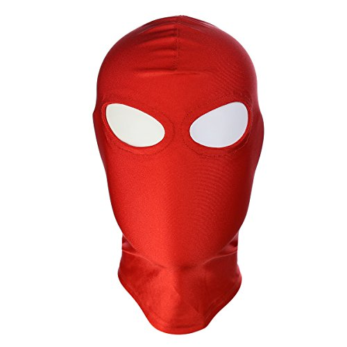 ATHX Breathable Spandex Zentai Costume Hood Mask (Red