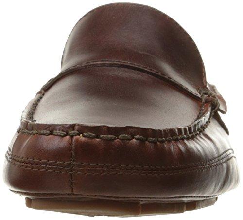 Sebago Mens Kedge Venetianska Slip-on Loafer Brun Oljad Vaxartad Läder