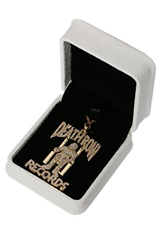 XCOSER Deathrow Records Chain Pendant Necklace Costume Accessories for Gifts