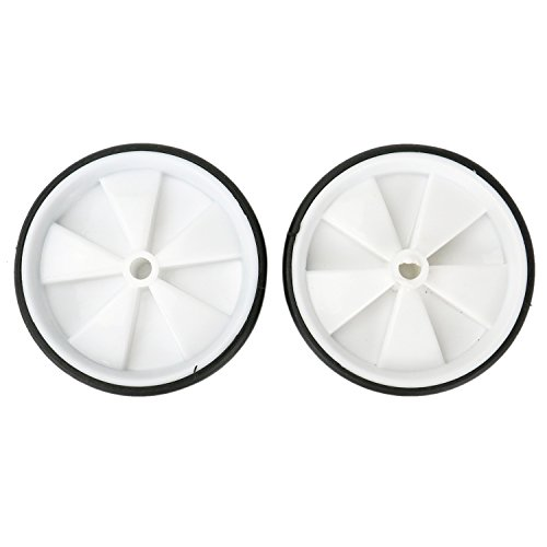 HUELE 1 Pair Kids Bike Spotter Stabiliser Training Replacement Wheels for 12-20 Inch Bicycle White