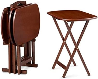 size 40 2a668 ffe55 Oversized Snack Tray Tables-Set of 4 with Stand