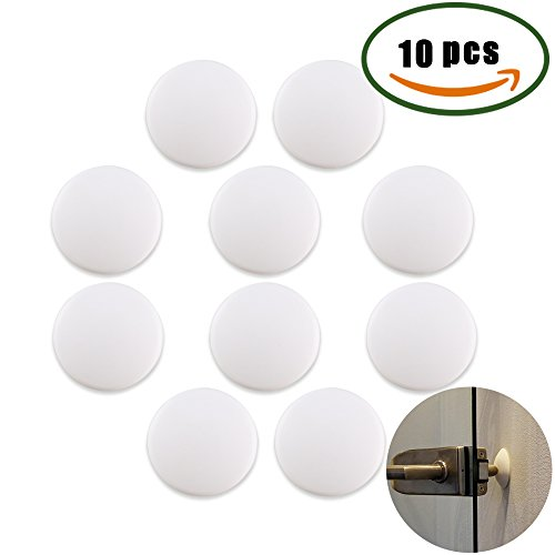 Door Knob Stopper, Anpatio 10PCS Soft Rubber 3M Self Adhesive 1.5