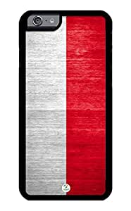 iZERCASE iPhone 6, iPhone 6S Case Poland Flag Polish RUBBER CASE - Fits iPhone 6, iPhone 6S T-Mobile, Verizon, AT&T, Sprint and International