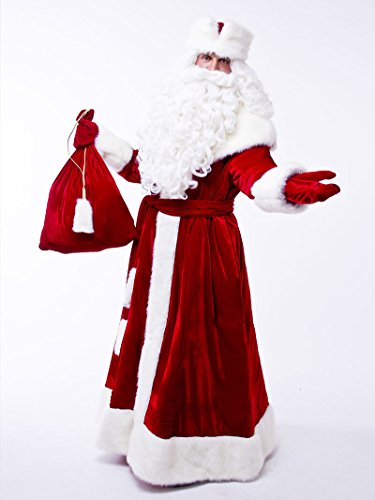 598b1a77d50c1 Russian Santa Claus Suit for Adult, Ded Moroz Costume, Christmas Father  Frost outfit,