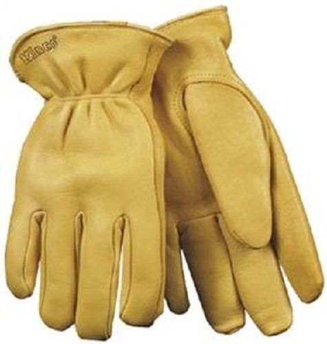 (KINCO INTERNATIONAL 90HK-L HeatKeep 90HK Driver Gloves, Men's, Large, Deerskin Leather, Yellow, Thermal Lining)