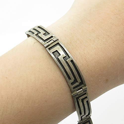 VTG Mexico 925 Sterling Silver Modernist Bracelet 7 1/4
