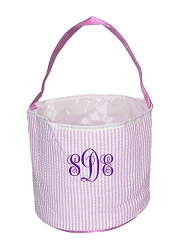 monogrammed easter basket - 5