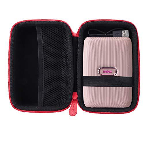 Aenllosi Hard Carrying Case Compatible with Fujifilm Instax Mini Link Smartphone Printer (red) (Printer Case Smartphone)