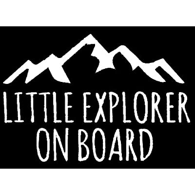 LLI Little Explorer On Board | Decal Vinyl Sticker | Cars Trucks Vans Walls Laptop | White |5.5 x 3.8 in | LLI953: Automotive