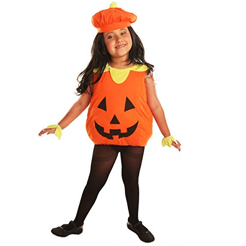 Make Bishop Dress (Disiao Halloween Orange Pumpkin Toddler's Costume for Children Kids Party Cospaly)