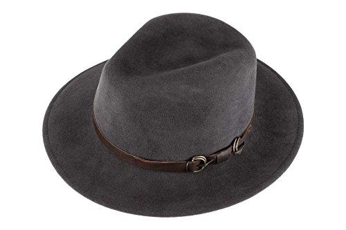 Fedora 100 Man feltro di Siena Grey lana Resistant Cappello Water Steel dxAwEfq7d