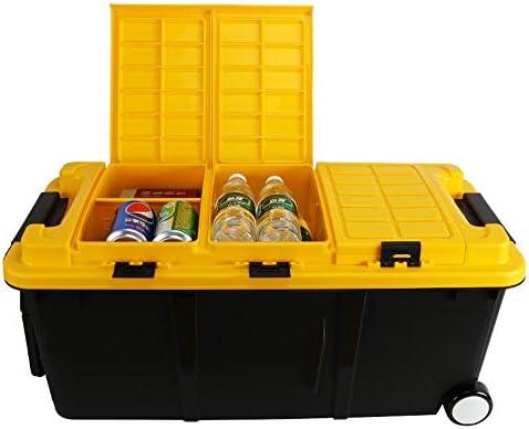カーオーガナイザートランク ふた付きのストレージビン - 簡単なストレージ77x36x34cmのための複数のコンパートメント付きポータブルカーSUVの自動折りたたみのためのヘビーデューティトランクオーガナイザー -カーアクセサリー (Color : #01)