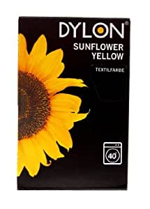 Dylon Sunflower Yellow - Tinte para ropa (200 g), color amarillo