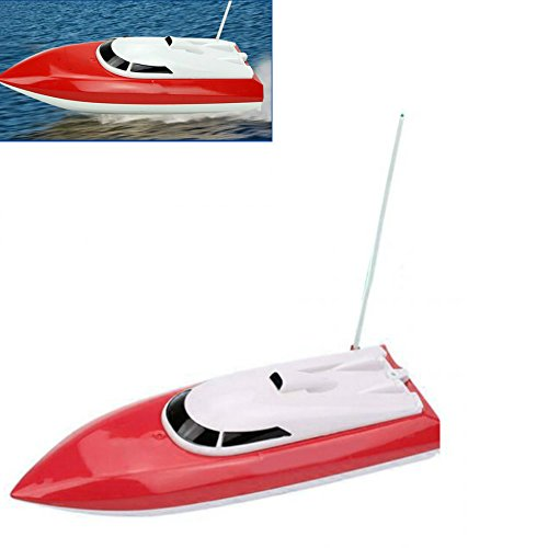 Enshey Control Race Boat -High Speed RC Boat Remotefor Electric Toy Pools and Lakes ()