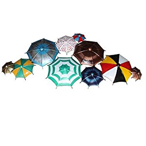 MICROTEX Metal Umbrella Wall Decor Beautifully Built 10 Umbrellas for Decoration
