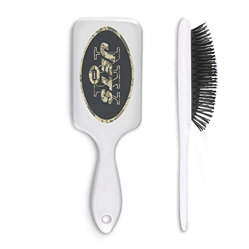 For Football Fans Army Camouflage White Cushion Bristles Pin Hair Brush Paddle Brush Comb Reducing Hair Breakage Adding Shine Mens Womens Kids Girl for Hair Straightening & Smoothing for Wet Dry hair