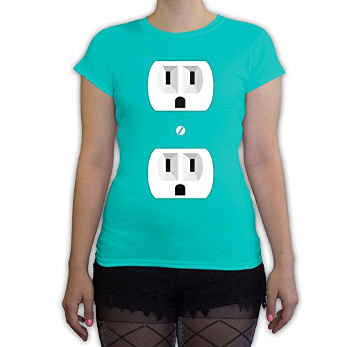 Function - Outlet Halloween Costume Women's Fashion T-Shirt (Couple Halloween Costumes Plug And Outlet)