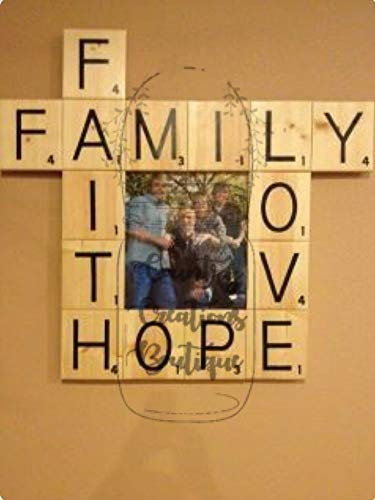 (Scrabble 2 x 2 Tiles, Wooden Wall Ready to Hang Tiles, Wall Decor, Farmhouse Style, Scrabble Pieces, Personalized Sign, Wooden Letters)