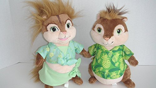 Build a Bear Alvin & the Chipmunks Plush Eleanor Chipette Doll Plush Animal Set (Chipettes Dolls)