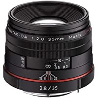 Pentax K-Mount HD DA 35mm f/2.8 Macro 35-35mm Fixed Lens for Pentax KAF Cameras (Limited Black)